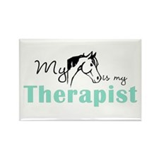 Horse Therapist Equestrian Rectangle Magnet