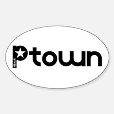 P-Town Aiight Oval Decal