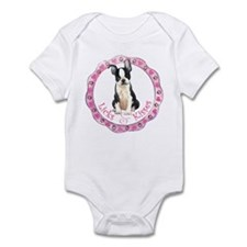 Boston Terrier Valentine Infant Bodysuit