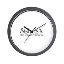 Forever Sisters 3 Wall Clock