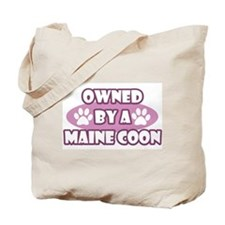 Owned By A Maine Coon Tote Bag