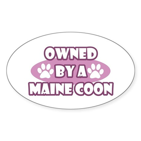 Owned By A Maine Coon Oval Sticker