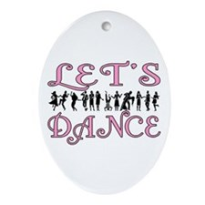 Let's Dance Oval Ornament