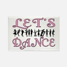 Let's Dance Rectangle Magnet