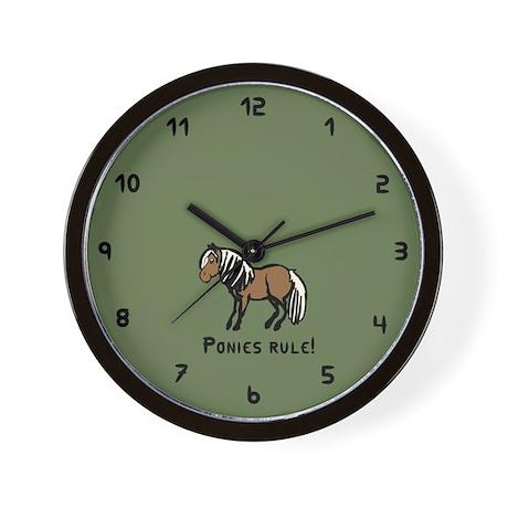 Ponies Rule Wall Clock