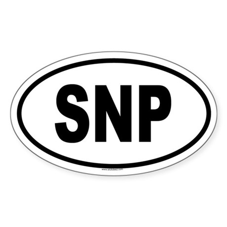SNP Oval Sticker