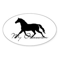 Horse Obsession Oval Decal