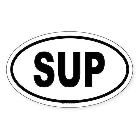 SUP Oval Sticker