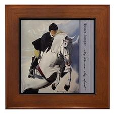 Jumper Horse Framed Tile