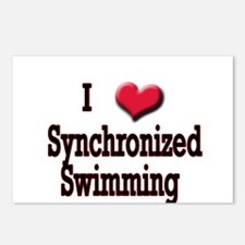 I Love (Heart) Synchronized S Postcards (Package o