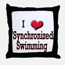 I Love (Heart) Synchronized S Throw Pillow