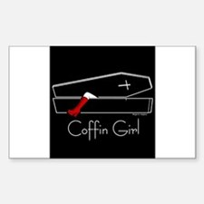 COFFIN GIRL Rectangle Decal