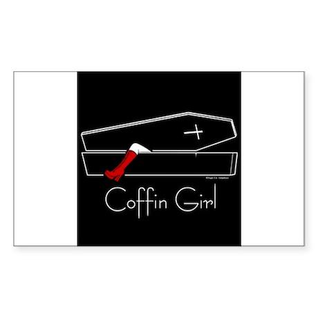 COFFIN GIRL Rectangle Sticker