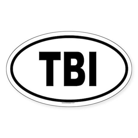 TBI Oval Sticker