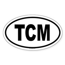 TCM Oval Decal