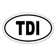 TDI Oval Decal