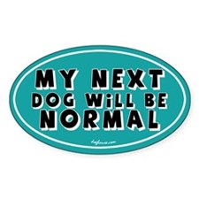 Normal Next Dog Oval Decal