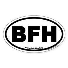 Bonefish Hockey BFH Euro Style Oval Decal