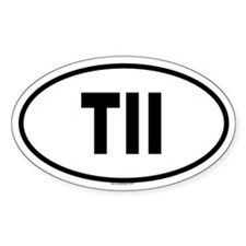 TII Oval Decal