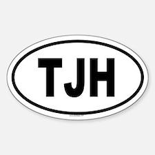 TJH Oval Decal