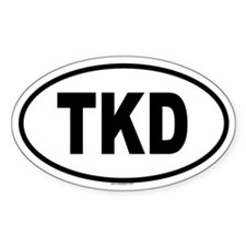 TKD Oval Decal