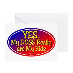 Yes My Dogs Greeting Cards (Pk of 20)