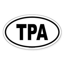 TPA Oval Decal