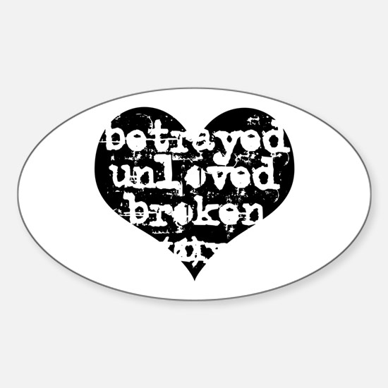 Betrayed Oval Decal