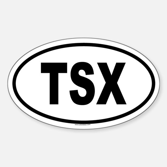 TSX Oval Decal