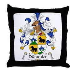 Dümmler Family Crest Throw Pillow
