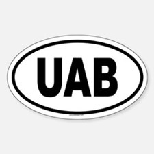 UAB Oval Decal