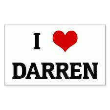 I Love DARREN Rectangle Decal