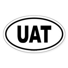 UAT Oval Decal