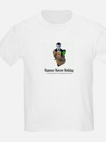 Hammer Horror Holiday Logo Kids White T-Shirt