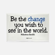 Be The Change Rectangle Magnet (10 pack)