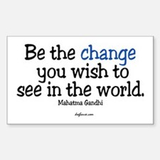 Be The Change Rectangle Decal