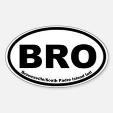 Brownsville/South Padre Island Intl Oval Decal