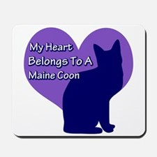 Maine Coon Heart Mousepad
