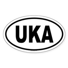 UKA Oval Decal