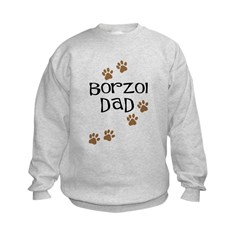 Borzoi Dad Kids Sweatshirt