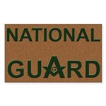 Masons National Guard Rectangle Sticker