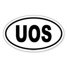 UOS Oval Decal