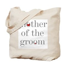 Grey Text Mother of the Groom Tote Bag