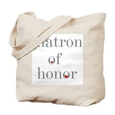 Grey Text Matron of Honor Tote Bag