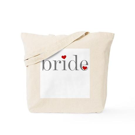 Gray Text Bride Tote Bag