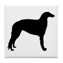 Borzoi Dog Tile Coaster