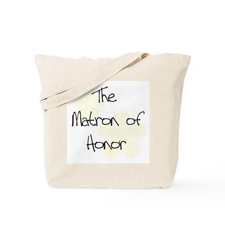 Yellow Flowers Matron of Honor Tote Bag