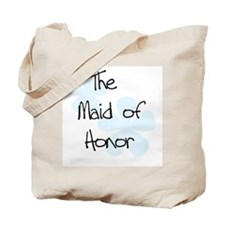 Blue Flowers Maid of Honor Tote Bag