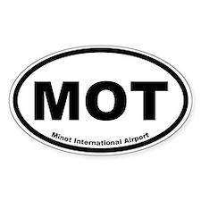 Minot International Airport Oval Decal