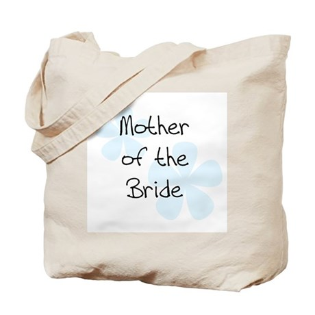 Pastel Flowers Blue Mother of Bride Tote Bag
